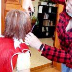 подстригаем бабушку